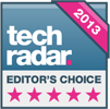 HTC One M7 award - Tech Radar Editors Choice 2013