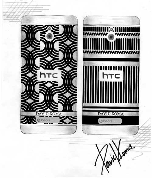 David Koma sketches of HTC One mini