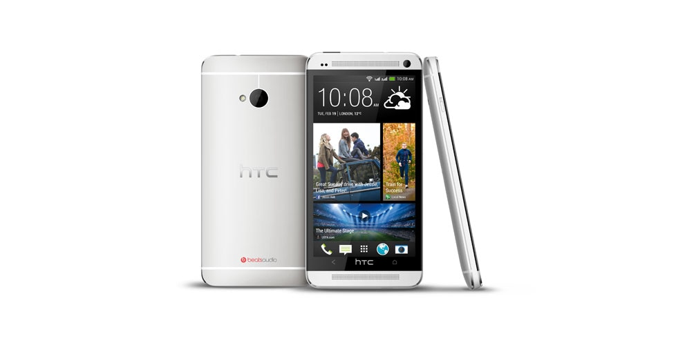 HTC dual sim phone. Front view.