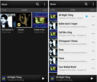 Redesigned Music Application