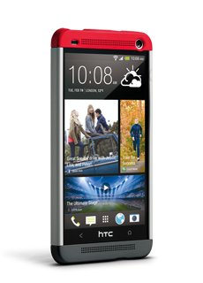 Cover per HTC One:cover tricolore HTC