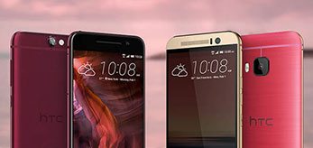 HTC One® A9 Deep Garnet & HTC One® M9 Pink