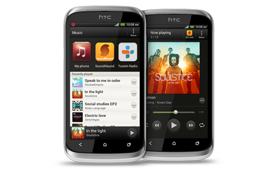 HTC Desire X - Don't just listen to your music—feel it.