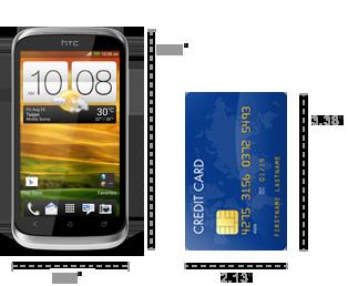 HTC Desire X dimensions