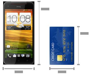 Размеры телефона HTC Butterfly
