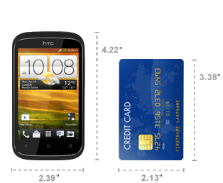 Compare HTC phone size