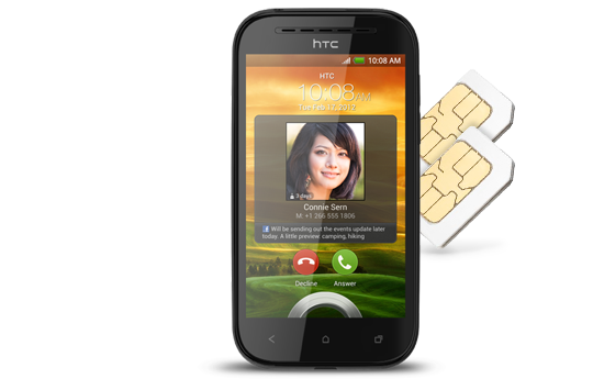 HTC Desrie SV - Simplify your life with Dual SIM.