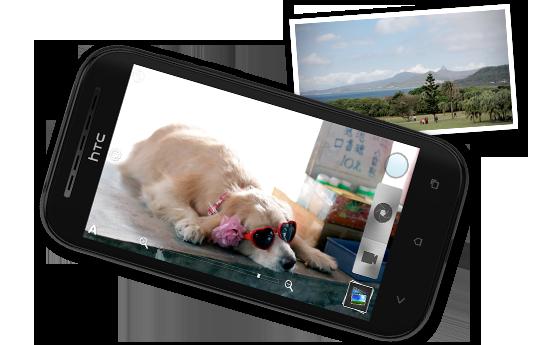 HTC Desire SV - Большой и яркий экран..