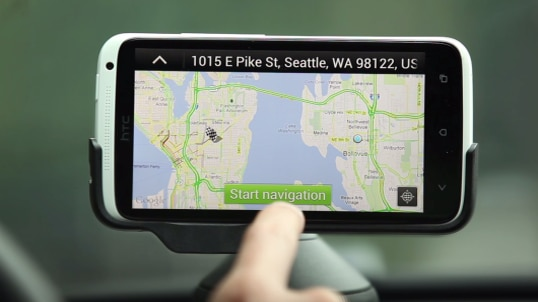 Car navigation with your phone