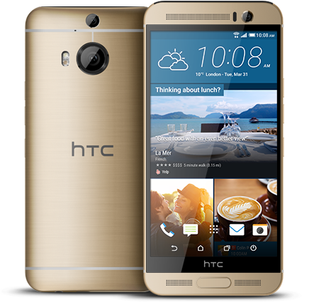 HTC One M9+ Gold on Gold