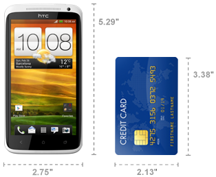 HTC One X dimensions