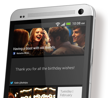 HTC BlinkFeed�. Your live home screen.