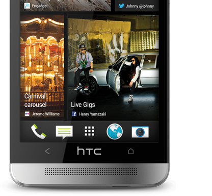 You're always up to date with HTC BlinkFeed™