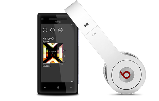 Only Windows® Phone with Beats Audio™: