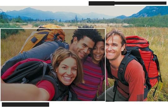 Çok geniş açılı ön kamera ile normalden iki kat geniş bir alanın fotoğrafını çekin.