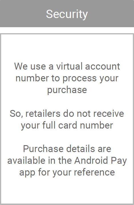 android pay secruity