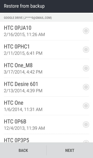 Restoring from HTC Backup - Backup and Transfer -