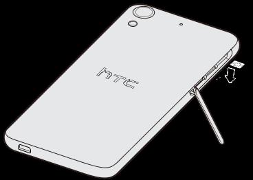 HTC Desire 626 (Verizon) - Inserting a nano SIM card - HTC